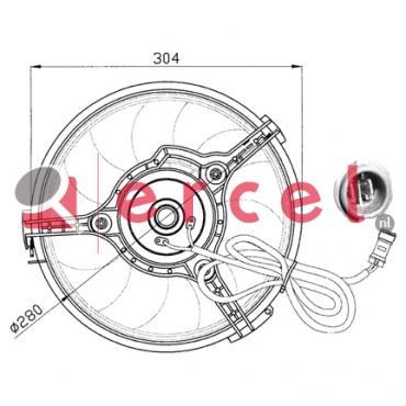 Ventilatorwiel motorkoeling AUF 008