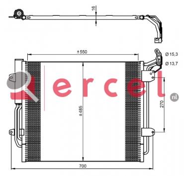 Airco condensor VWC 568