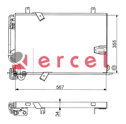 Airco condensor BMC 536