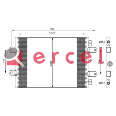 Airco condensor REC 557