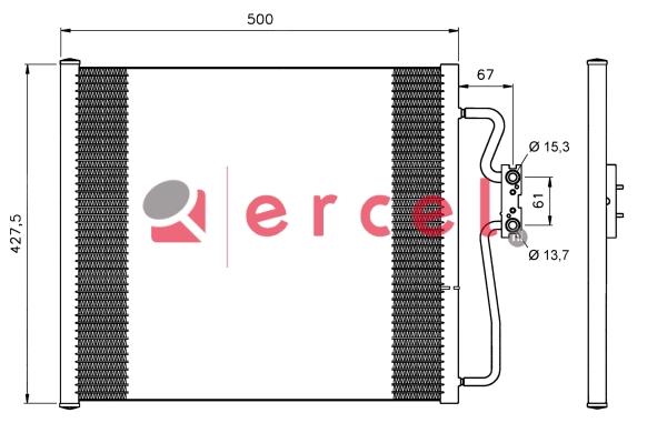 Airco condensor BMC 534