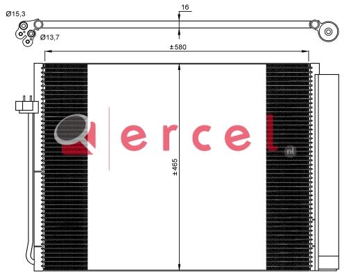 Airco condensor BMC 527
