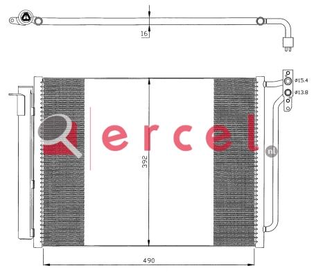 Airco condensor BMC 506