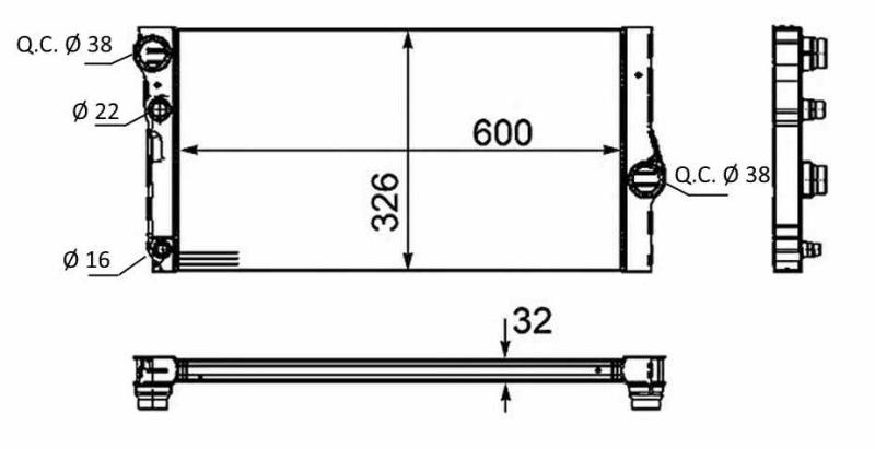 Radiateur BMR 119