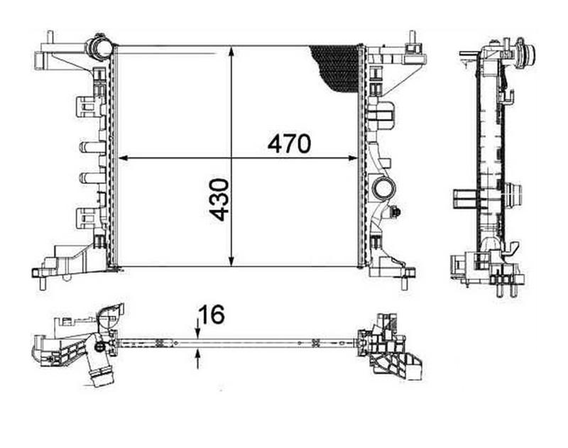 Radiateur OPR 762