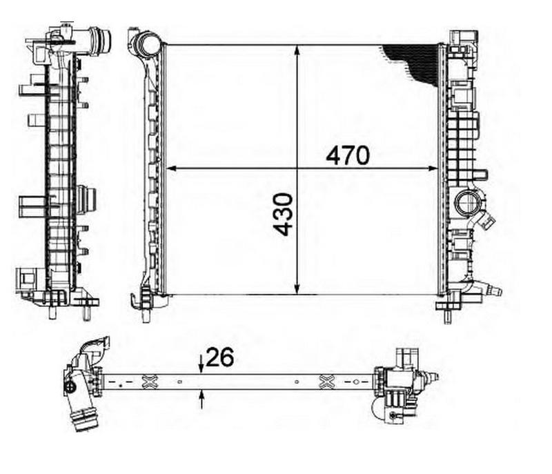 Radiateur OPR 764