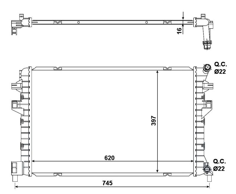 Radiateur AUR 155