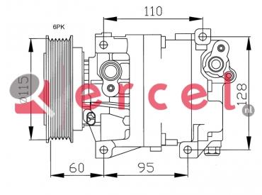 Airco compressor ARK 016 OEM