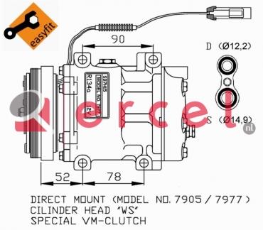 Airco compressor ARK 004 OEM