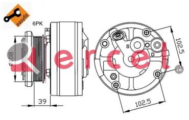 Airco compressor CVK 027 OEM