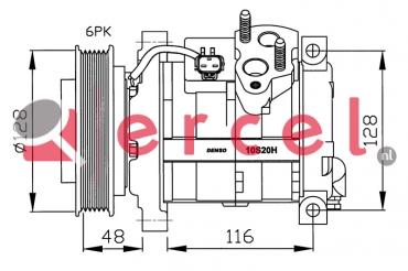 Airco compressor CRK 017 OEM