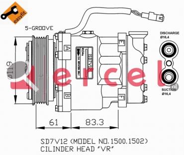 Airco compressor CIK 001 OEM