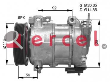 Airco compressor CIK 038 OEM