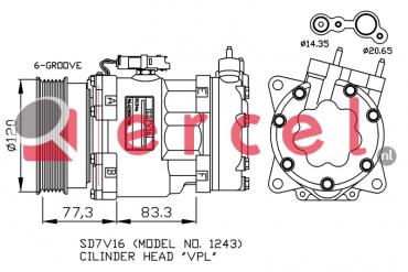 Airco compressor CIK 030 OEM