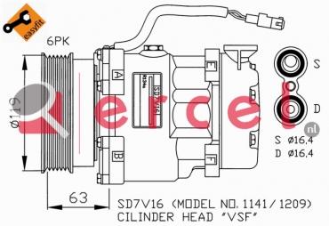 Airco compressor PEK 004 OEM