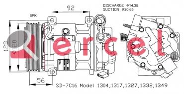 Airco compressor PEK 014 OEM