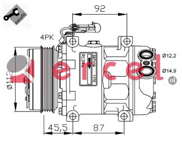 Airco compressor FIK 036 OEM