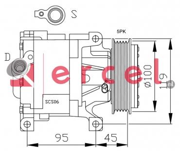 Airco compressor FIK 023 OEM