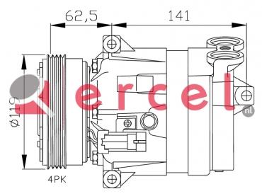 Airco compressor FIK 027 OEM