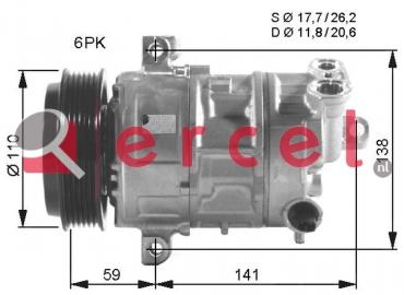 Airco compressor FIK 032 OEM