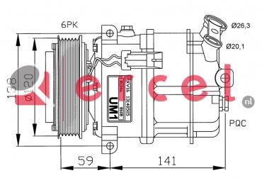 Airco compressor OPK 043 OEM