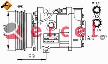 Airco compressor FIK 033 OEM