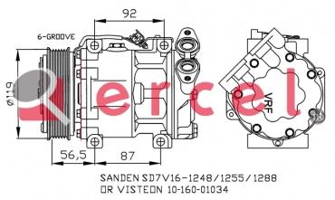 Airco compressor FOK 051 OEM