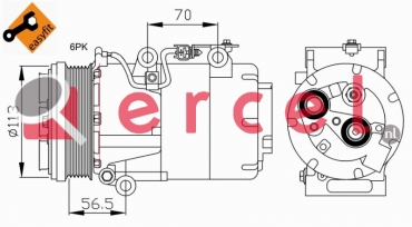 Airco compressor FOK 052 OEM