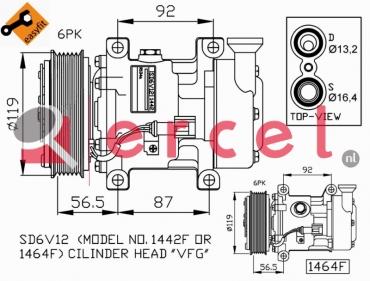 Airco compressor FOK 048 OEM