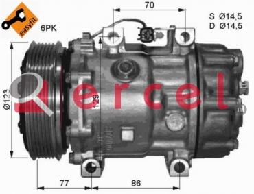 Airco compressor FOK 045 OEM