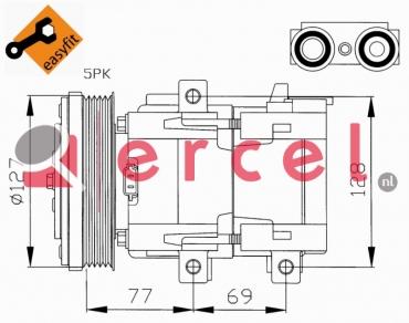 Airco compressor FOK 012 OEM
