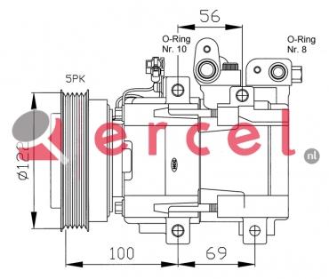 Airco compressor HYK 002 OEM