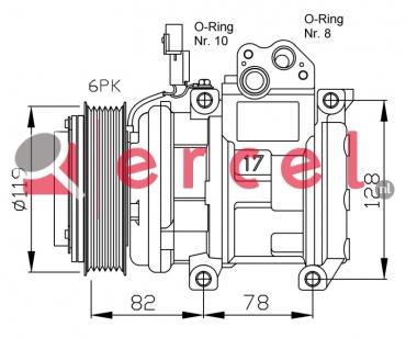 Airco compressor KAK 024 OEM