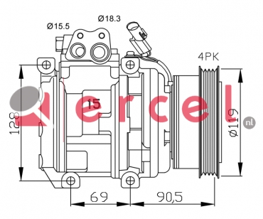 Airco compressor KAK 012 OEM