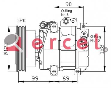 Airco compressor KAK 014 OEM