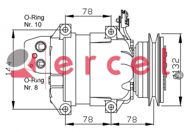 Airco compressor KAK 006 OEM