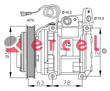 Airco compressor KAK 020 OEM