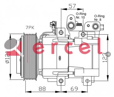Airco compressor KAK 028 OEM