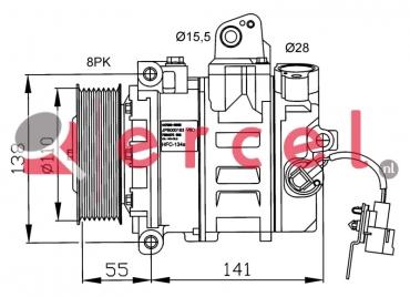 Airco compressor RVK 025 OEM