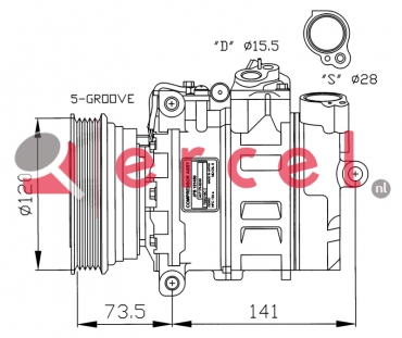 Airco compressor RVK 017 OEM