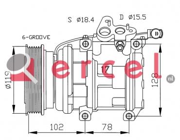 Airco compressor RVK 021 OEM