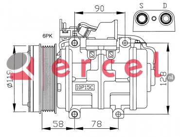 Airco compressor MBK 002 OEM