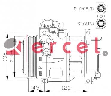 Airco compressor MBK 001 OEM
