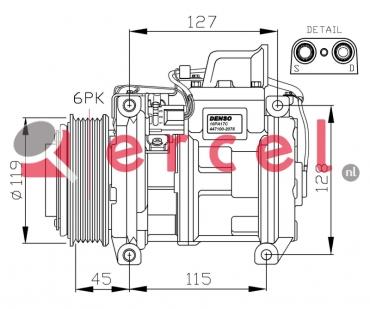 Airco compressor MBK 006 OEM
