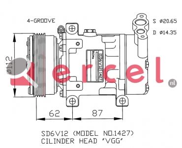 Airco compressor REK 053 OEM