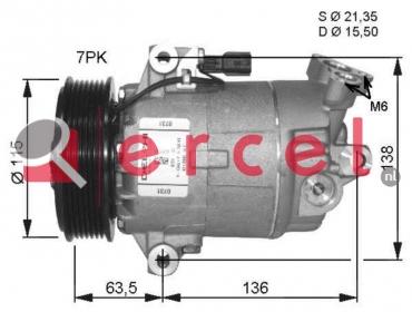 Airco compressor REK 077 OEM