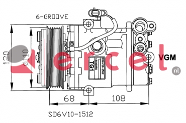 Airco compressor OPK 050 OEM
