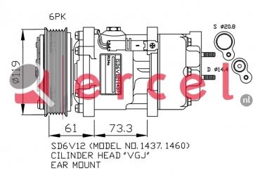 Airco compressor PEK 008 OEM