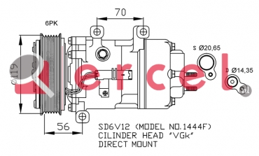 Airco compressor PEK 011 OEM
