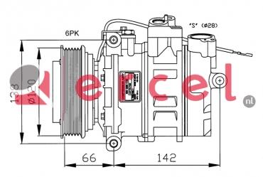 Airco compressor POK 009 OEM